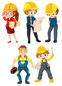 Hardworking people — Stock Vector
