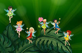 Cute fairies — Stock Vector