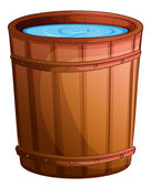 A big bucket of water — Stock Vector
