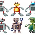Six robots — Stock Vector #51091903