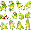 Set of frogs — Stock Vector #51093057