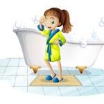 Girl and bathtub — Stock Vector #51093565