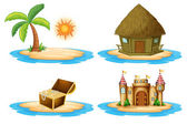 Four islands — Stock Vector