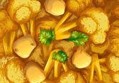 Curry closeup — Stock Vector