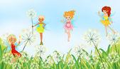 Fairies in the garden — Stock Vector