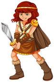 Girl viking — Vector de stock