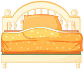 A king sized bed — Stock Vector