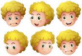 Blonde boy — Stock Vector