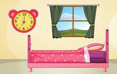 Schlafzimmer-Einstellung — Stockvektor