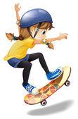 A female skateboarder — Stock Vector