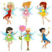Fairies set — Stock Vector