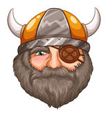 Man Viking — Stock Vector