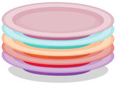 Stack of plates — Stock Vector