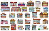 Diversi edifici — Vettoriale Stock