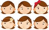 Brown hair girl  — Stock Vector
