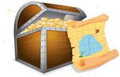κουτί του θησαυρού — Διανυσματικό Αρχείο