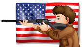 USA hunter — Vector de stock