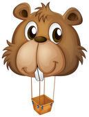 A big brown beaver balloon — Wektor stockowy