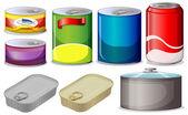 Conjunto de latas — Vetorial Stock