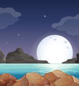 Paesaggio lunare — Vettoriale Stock