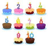 Ten Cakes — Stock Vector