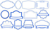 Etiquetas azules — Vector de stock