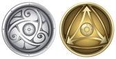 Viking shields — Stock Vector