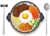 Nourriture coréenne — Vecteur