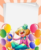 Empty bondpapers with a clown and balloons — Stock Vector