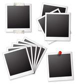 Marcos de fotos en blanco — Vector de stock