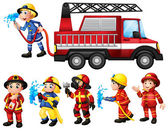 Firefighters — Stock Vector