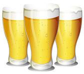Glasses of beer — Stock Vector
