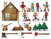 Set of lumber — Stock Vector