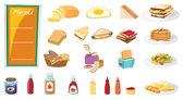 食品 — 图库矢量图片