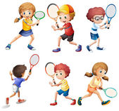 Tennis actions — Stockvector