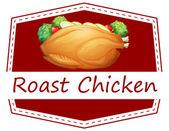 Roast Chicken — Stock Vector