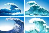Wellen — Stockvektor