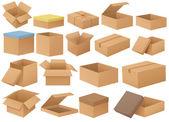 κουτιά από χαρτόνι — Διανυσματικό Αρχείο