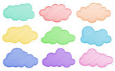 Nuvens — Vetorial Stock