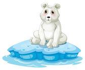 A polar bear above the iceberg — Stock Vector
