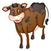 Brown cow — Stock Vector