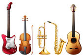 Music set — Stock Vector