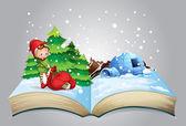Christmas book — Stock Vector