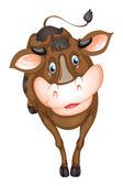 Brown cow — Stock Vector