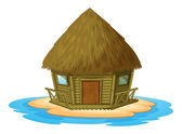 Bungalow on island — Stock Vector