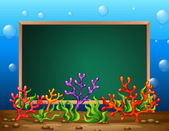 Underwater banner — Vetorial Stock