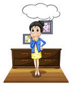 Woman in room — Stock Vector