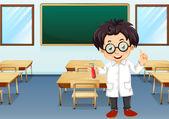 Scientist in classroom — Vector de stock