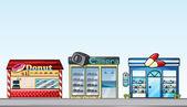 Shops — Stock Vector
