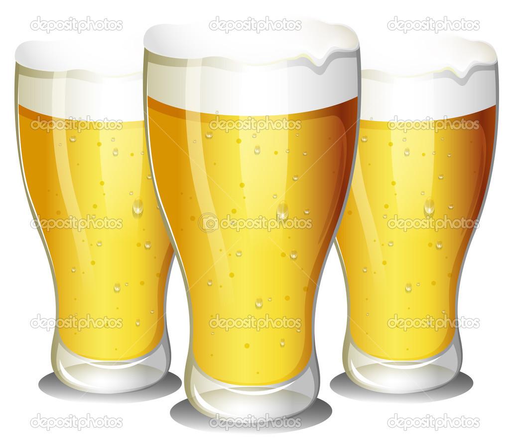 Bicchieri di birra vettoriale stock 51351415 for Bicchieri birra prezzi